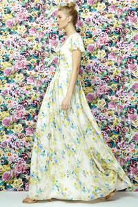 Вечерние платья с принтами 2017