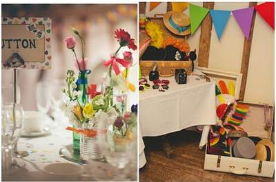 Real Wedding: Rainbow inspiration for your colourful big day