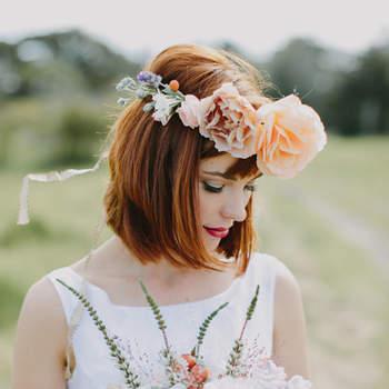 Penteados de noiva com franja 2016: joviais e sofisticados
