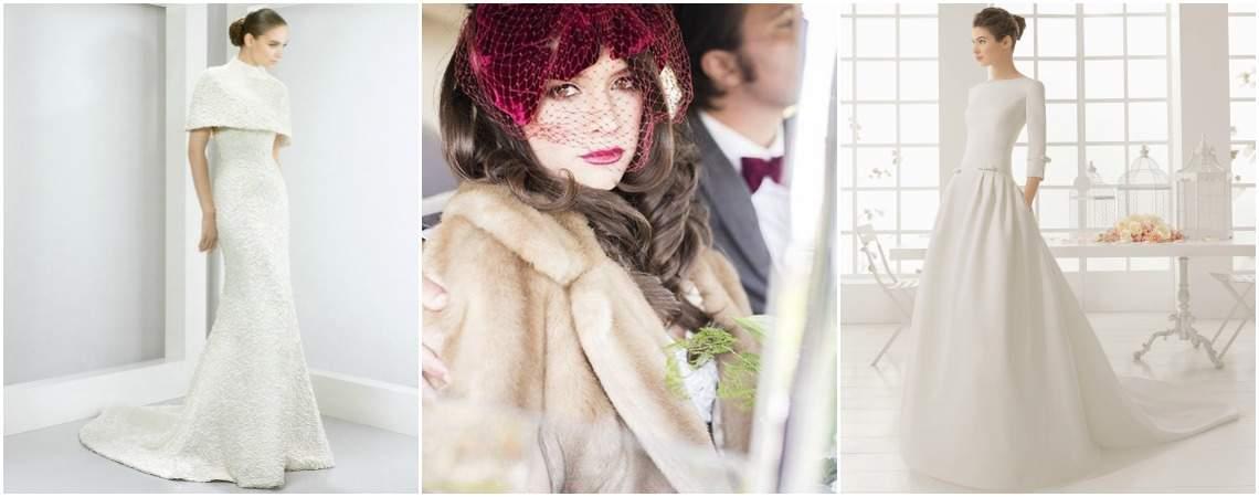 44 deslumbrantes vestidos de noiva para um casamento no Inverno!