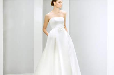 Bolsillos en tu vestido de novia. ¡Únete a esta cómoda moda!