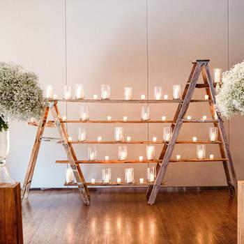 Kerzen für die Hochzeitsdekoration 2017: Im warmen Licht den schönsten Tag feiern