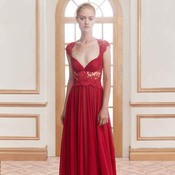 Red Full-Length Gowns and Short Dresses for the Bold Wedding Guest