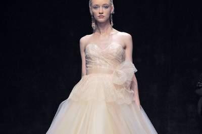 Vestidos de novia corte princesa Lazaro 2013