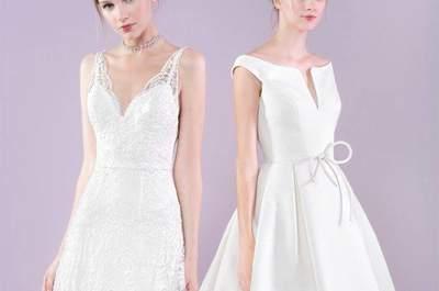 Vestidos de novia corte A 2017: un clásico de la elegancia