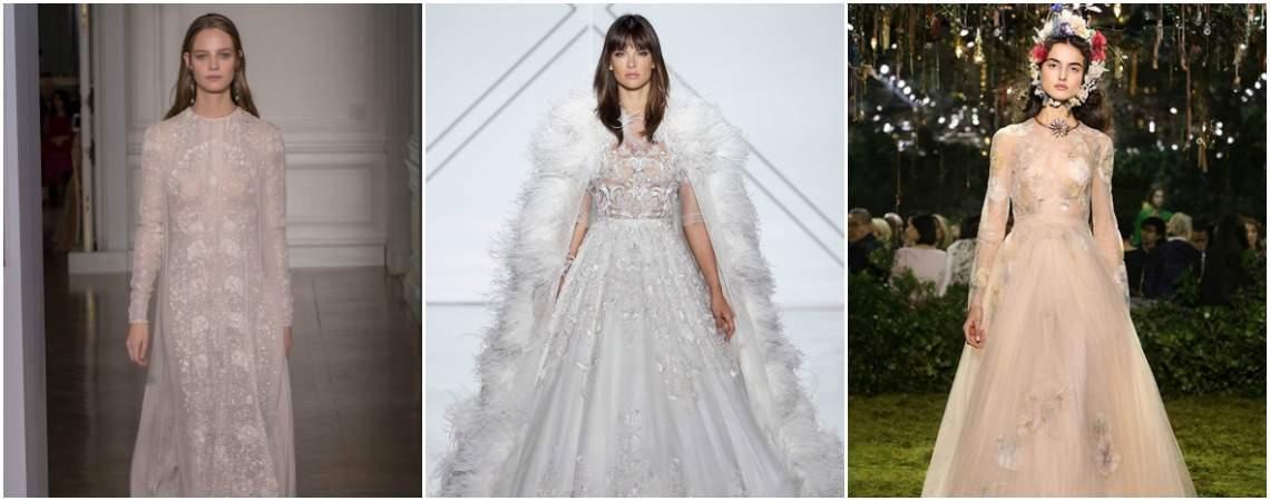 22 prachtige haute couture bruidsjurken uit Parijs. Je zal sprakeloos zijn!