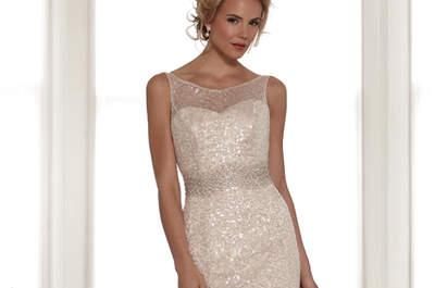 Vestidos de novia en colores oro y plata: ¡Bienvenidos sean el brillo y la elegancia!