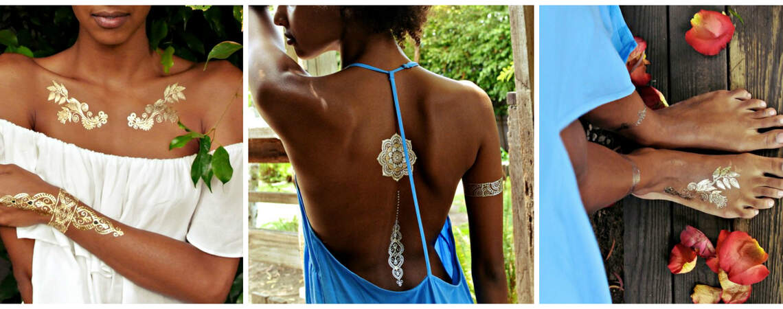 Flash, Bam, Boom: Gold and Silver Removable Tattoos for your Wedding