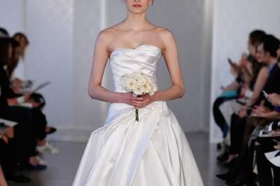 Vestidos de novia Óscar de la Renta 2017: sofisticación y sobriedad en cada detalle