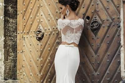 39 Vestidos de novia con lazos 2017. ¡Un detalle romántico!