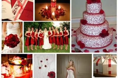 Idées pour un thème de mariage rouge et blanc