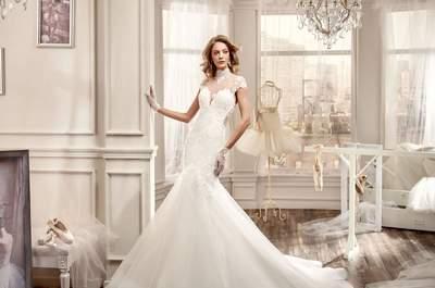 Vestidos de noiva de decote fechado: inspiradores e românticos!