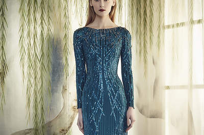Blue Full-Length Gowns for the Elegant Wedding Guest
