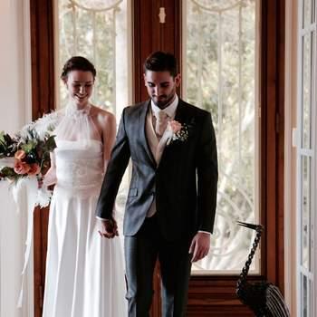 Un mariage en hiver au bord de l'eau dans le Bassin d'Arcachon