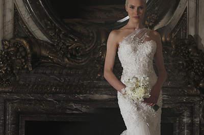 Romona Keveza 2016: Sensualidad y efecto acuarela en vestidos de novia