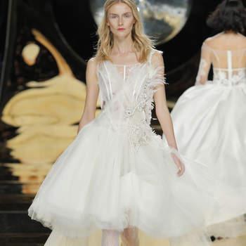 Vestidos de novia cortos 2017: los 45 diseños más TOP. ¡Atrévete a llevarlos!