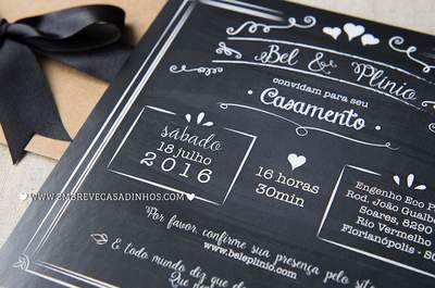 Como escolher os convites de um casamento rústico: ideias lindas!