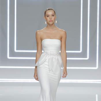 Vestidos de novia Rosa Clará 2017: nuevos diseños llenos de simetría y contrastes