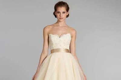 57 vestidos de novia para mujeres con poco pecho 2017. ¡Encuentra el que más te favorezca!