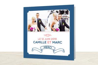 Avec Popcarte, j'envoie mes cartes de remerciement mariage personnalisées... Depuis mon smartphone !