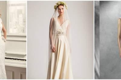 Vestidos de novia con escote en V 2016, ¡encuentra el diseño ideal!