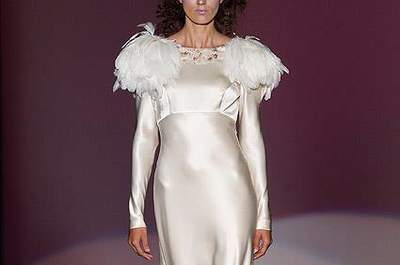 Spring 2013 Wedding Dress Trends: Feathers
