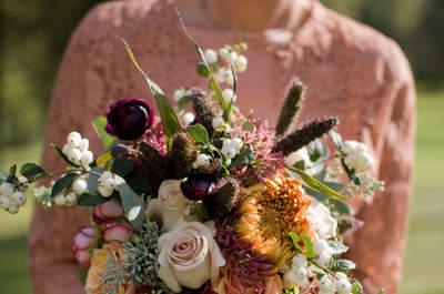 Bouquets de otoño: descubre los colores tendencia de esta estación para ramo de novia