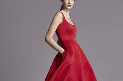 Что надеть на свадьбу? Красное вечернее платье 2016