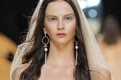 Peinados de novia con pelo suelto 2017: ¡Luce auténtica y encantadora!