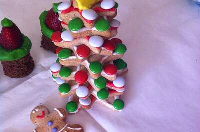 Repostería inspirada en la Navidad para la boda