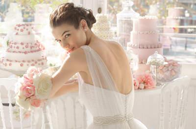 Vestidos de novia con escote en la espalda de Rosa Clará 2015