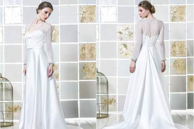 63 magníficos vestidos de novia de manga larga 2017. ¡Enamórate al instante!