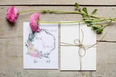 Convites de Casamento desenhados à mão: sugestões românticas e surpreendentes feitas à sua medida!