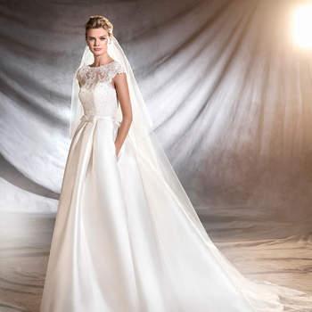 30 vestidos de novia con lazos 2017. ¡Romanticismo extremo!