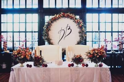 Президиум: как украсить стол жениха и невесты?