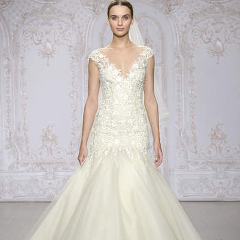 Descubre la colección de vestidos de novia Monique Lhuillier 2016: lujo, sofisticación y encanto