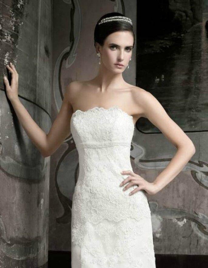 Vestido de novia de encaje. Bridenformal 2012