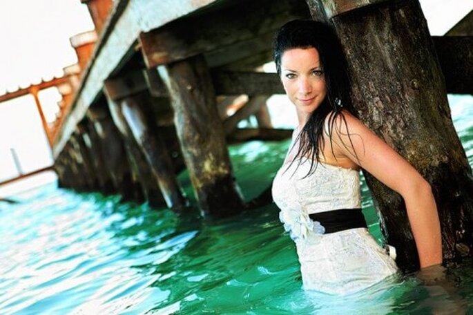 Sesión de fotos Trash the Dress bajo el agua - Foto Samuel Luna