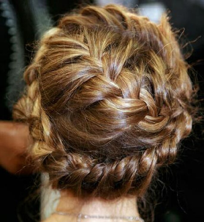 Tresse par Hair Stylist Guido pour Valentino Printemps-Eté 2012