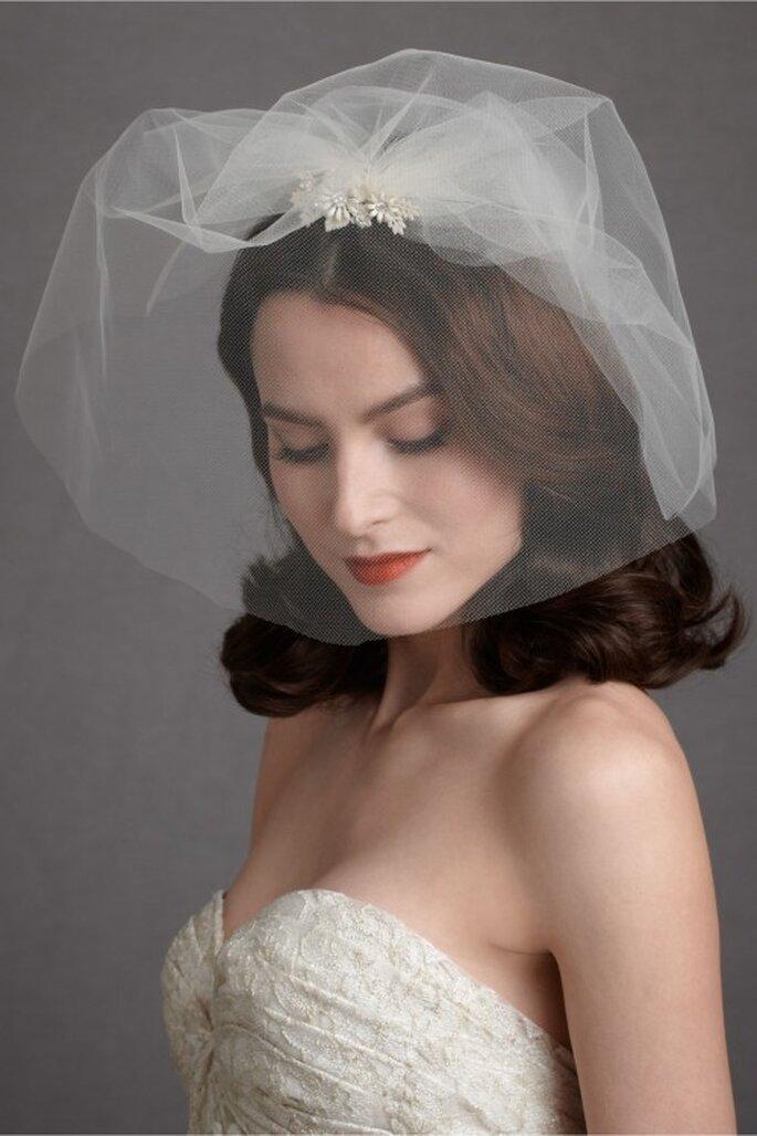 Velo de novia corto - Foto BHLDN