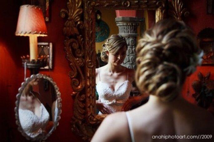 Peinados para novias.Foto de Anahí Navarro.