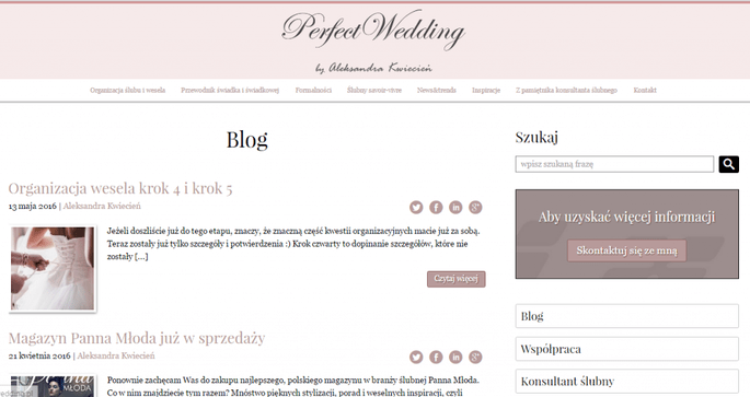 Credit: Blog Perfect Wedding by Aleksandra Kwiecień