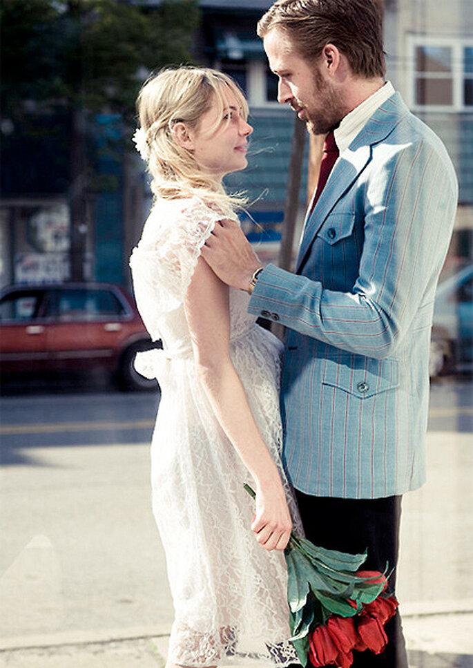 La actriz luce un vestido de novia premamá en la gran pantalla. Foto: Hunting Lane Films