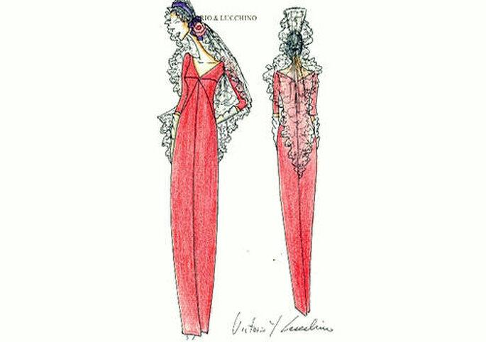 Boceto del diseño de Victorio y Lucchino para Carmen Tello. Foto: V&L