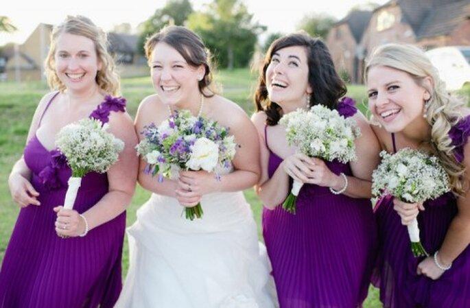Ramo de novia con flores Lazo de Reina Ana - Foto Nadia Meli