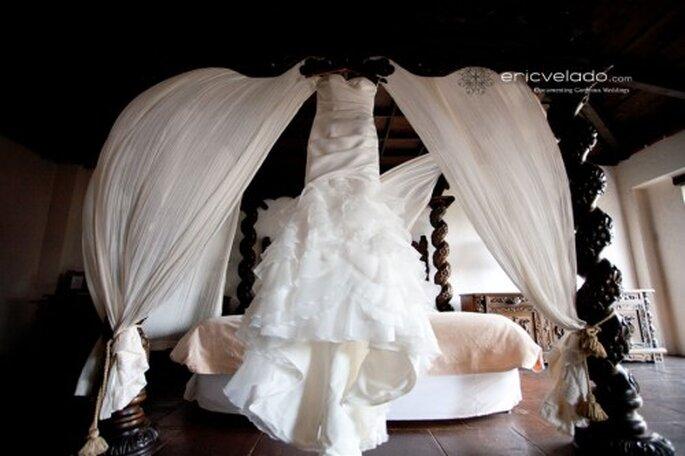 Fotografía vestido de novia. Imagen Eric Velado