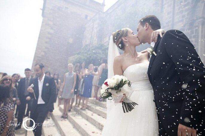 Besos de boda. Foto: Joseph Alfaro