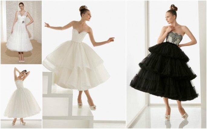 Selección Zankyou de los mejores vestidos de novia al tobillo
