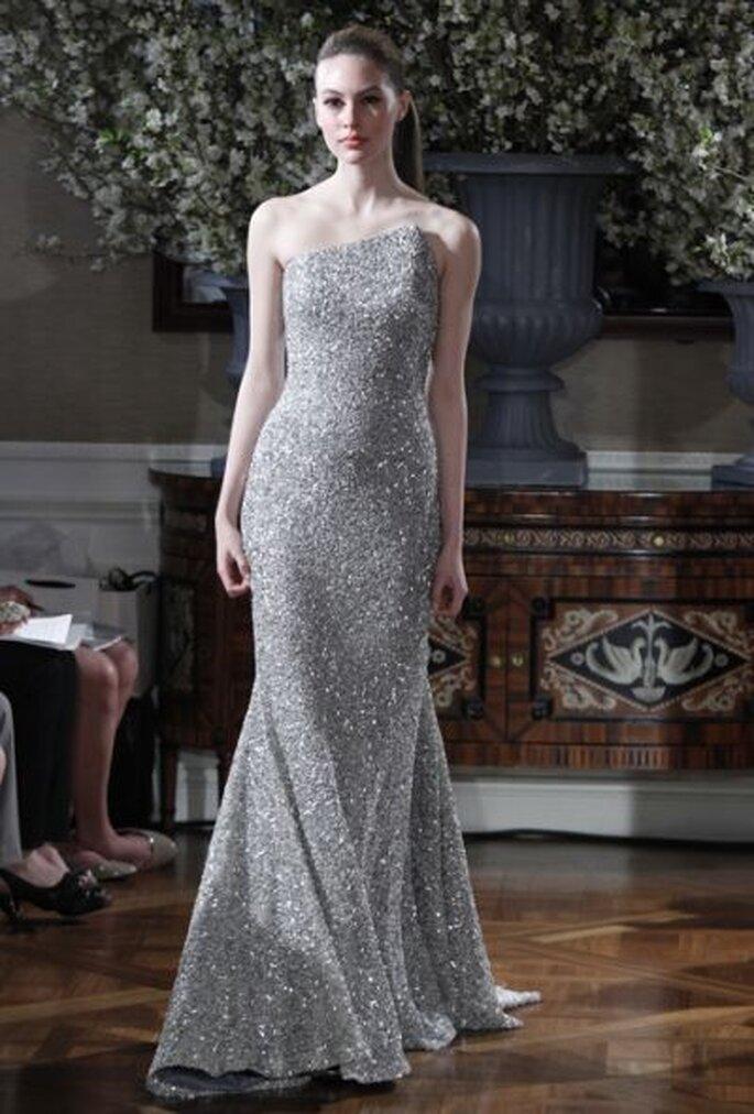 Robe de mariée argentée Romona Keveza 2013