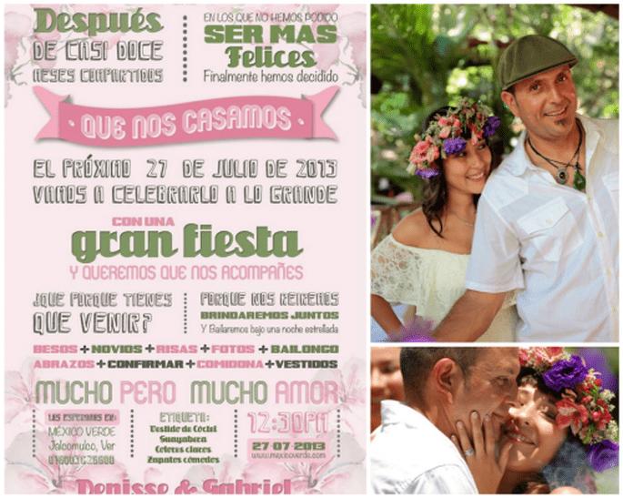La boda bohemia de Ana Denisse y Gabriel. Fotografía Arteluxe Estudio